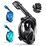 Full Face Snorkel Mask Snorkeling Gear for Adults [2021 New Upgrade] Snorkeling Mask with Camera Mount&Adjustable Head...