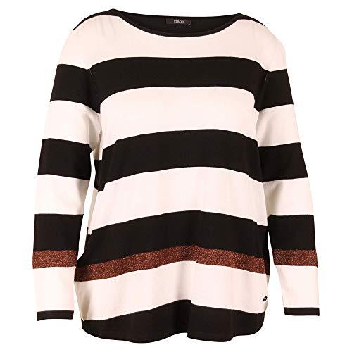 Schwarz-weiß gestreifter Pullover von Frapp Größe 42