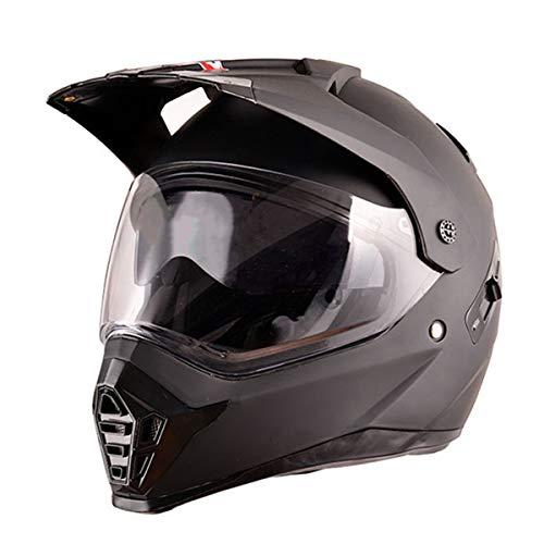 Visera Doble Casco Cross Motocicleta Casco de Motocross Casco Enduro Integral Adulto...