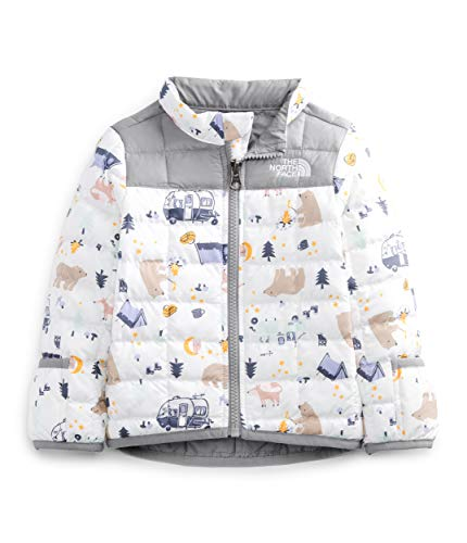 The North Face Infant ThermoBall Eco Jacket, TNF White Camping Friends Print, 12M