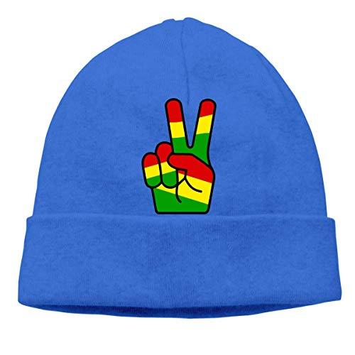 XCNGG Strickmütze Wollmütze Unisex Peace Fingers Knitted Hat, Fashion Beanies Cap