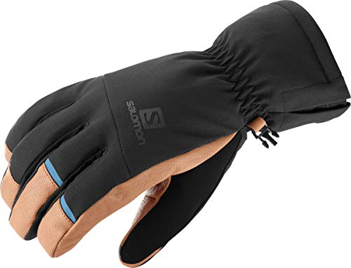 Salomon Herren Leichte Handschuhe, PROPELLER DRY M, Schwarz/Hellbraun, Gr. L, LC1182300