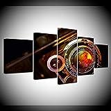 YTDZ 5 Paneles de Pintura de Pared Lente de la cámara Retro 150x80cm Impresiones sobre Lienzo, imágenes de al óleo para decoración Moderna para el hogar Decorativo para Tu Salón o Dormitorio