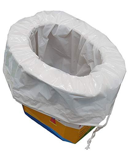 xinaishan 座れる携帯トイレ 折り畳み式 簡易 ポータブルトイレ 防災グッズ 緊急用 幼児 子供用 コンパクトトロン 5個セット+5枚凝固吸収シート (Big)