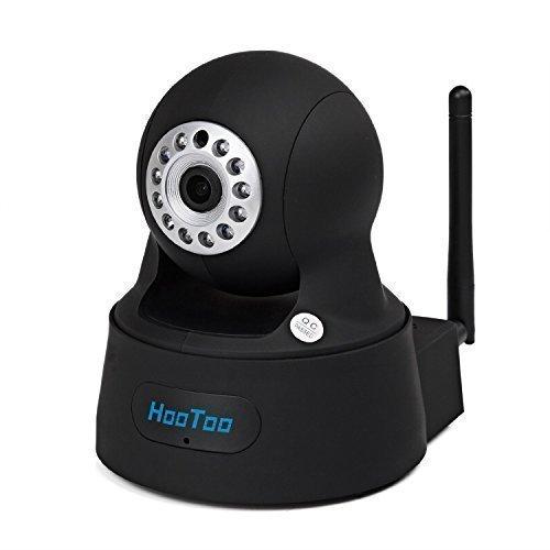 HooToo IP Kamera ?berwachungskamera Megapixel HD 1280 x 720p H.264 Wireless / Wired Pan / Tilt mit IR-Cut Filter, Nachtsicht WPS, schwarz