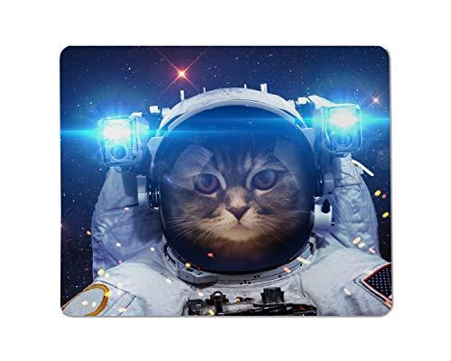 Yeuss Astronaut Rechteckiges rutschfestes Mauspad Schöne Katze im Weltraum. Elemente Dieses Bildes von der NASA geliefert. Gaming Mauspads 200 mm x 240 mm