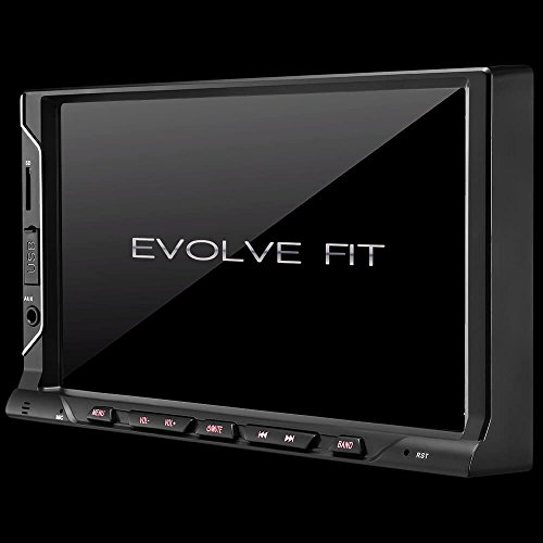 Central Multimídia Evolve Fit 7 Pol. 2 Din Mirror LINK MP5 4x35w Bluetooth + Rádio FM + Entrada Cartão SD + USB + AUX Multilaser - P3328