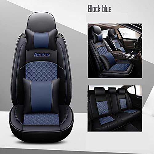 Fundas Asientos Coche Universales para Nissan Note Qashqai J10 Almera N16 X-Trail T31 Navara D40 Murano Teana J32 Accesorios Coche-Azul De Lujo