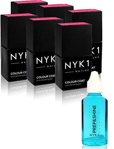 UV Gel-Nagellack Vorteilspackung von NYK1 – Wählen Sie Ihre 6 Favoriten unserer Ultraviolett und...
