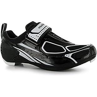 Muddyfox Mens TRI100 Cycling Shoes Breathable Cycle Bike Sport New Black/White UK 9.5