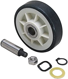 12001541 - (2PACK) 2 NEW CLOTHES DRYER COMPLETE DRUM SUPPORT ROLLER KIT ASSEMBLY WITH WASHERS AND SHAFT FOR MAYTAG WHIRLPOOL AND MORE