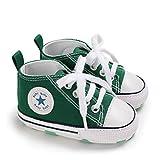 DEBAIJIA Bebé Primeros Pasos Zapatos de Lona12-18M NiñosAlpargata Suave Antideslizante Ligero Slip-on 20 EU Verde (Tamaño Etiqueta-3)