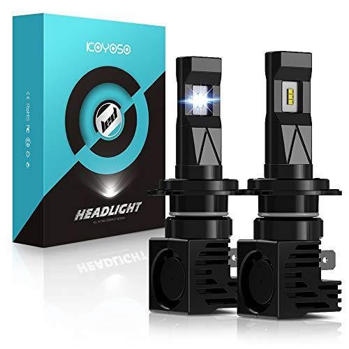 KOYOSO H7 LED 12000LM Lampadine per Fari Anteriori di Auto12V, 6500K Bianco (2 Lampade)