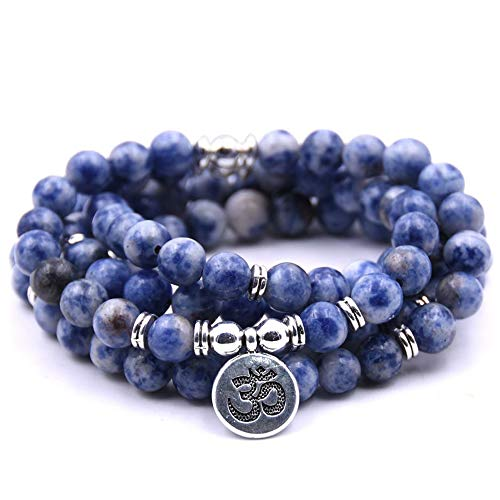 Self-Discovery 108 Natural Beads Mala Yoga Jewelry Meditation Beads Bracelet Necklace with...