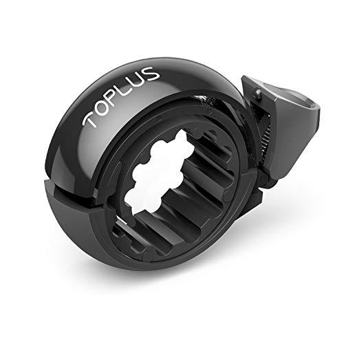 TOPLUS. Fahrrad Klingel,Fahrradklingel Fahrradglocke für Alle Fahrräder für Lenker 22.2-31.8mm,schwarz.