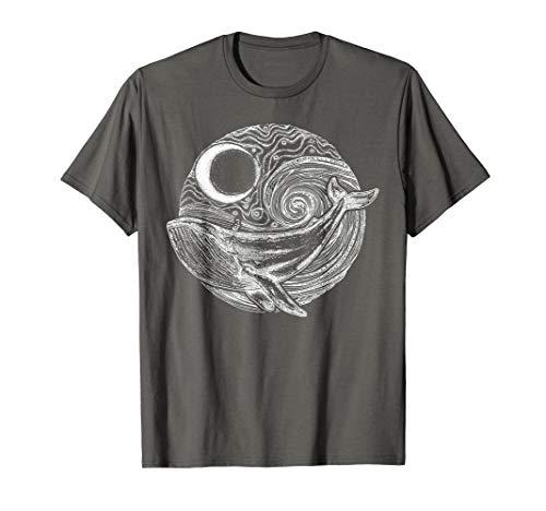 Wal schwimmt im Ozean, Tier-T-Shirt für Walliebhaber