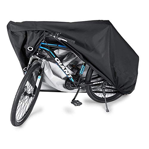 SEESEE.U Bike Cover 190T Nylon Outdoor Waterproof Bicycle Cover Anti Dust Sun Rain Wind Proof UV Protection for Mountain Bike/Road Bike And Motorcycle with Lock-Holes Storage,S