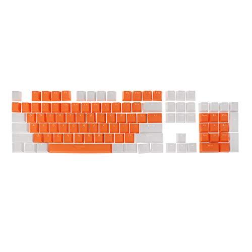 Meipai Doble disparo translúcido PBT 104 KeyCaps retroiluminado compatible para el interruptor de teclado Cherry MX