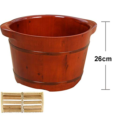 Learn More About Foot Bath, Wooden Barrels Pedicure Basin Barrel Thickened Massage Foot Spa Therapy ...
