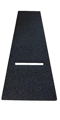 XXL Profi Dart Teppich Set Startline Flex 3m x 1m, Dartteppich/Dartmatte schwarz/grau meliert mit Abwurflinie Oche #444535
