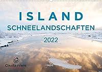 ISLAND - Schneelandschaften (Wandkalender 2022 DIN A2 quer): Magische Winterlandschaften laden zum Traeumen ein. (Monatskalender, 14 Seiten )