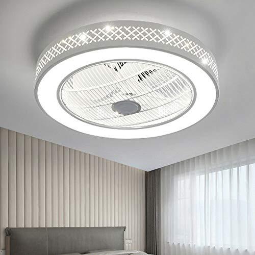 Deckenventilator mit Beleuchtung LED-Licht Einstellbare Windgeschwindigkeit Dimmbar Creative Gitterlüfter Invisible Fan mit Fernbedienung, für Schlafzimmer Wohnzimmer Esszimmer (Stil 2)