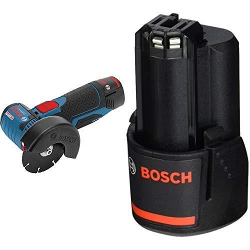 Bosch Professional - Amoladora angular a batería + Batería de litio GBA 12V 2.0Ah