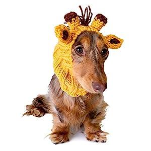 Zoo Snoods Giraffe Dog Costume – Neck and Ear Warmer Hood for Pets (Small)
