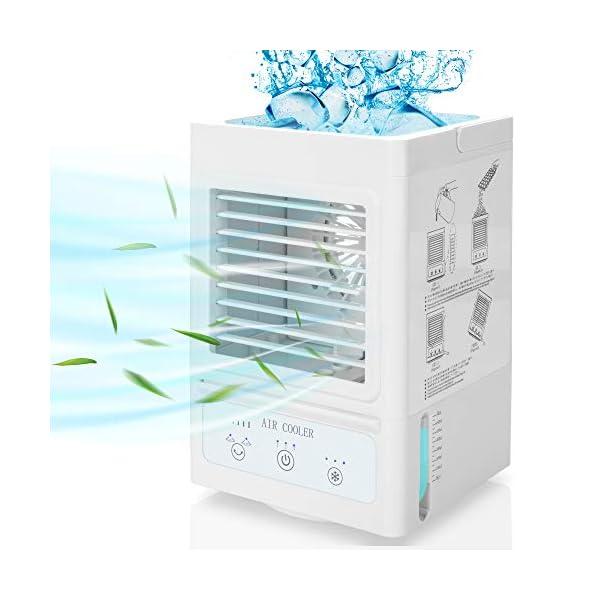 Portable Air Conditioner,60°/120° Auto Oscillation Personal Air Cooler,5000mAh...