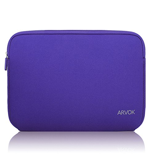Arvok 15-15.6 Inch Laptop Sleeve Multi-Color & Size Choices Case/Water-Resistant Neoprene Notebook Computer Pocket Tablet Briefcase Carrying Bag/Pouch Skin Cover for Acer/Asus/Dell/Lenovo/HP, Purple