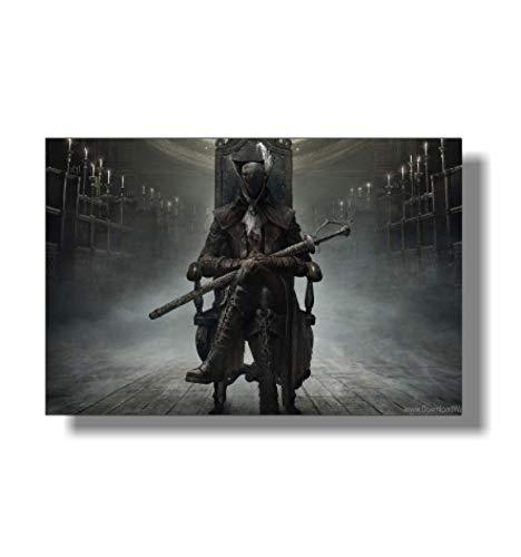 ZYHSB Leinwand Bild Bloodborne Art Poster Gaming Wand Spielzimmer Kunst Home Decor Kz112Xc 40X60Cm Ohne Rahmen