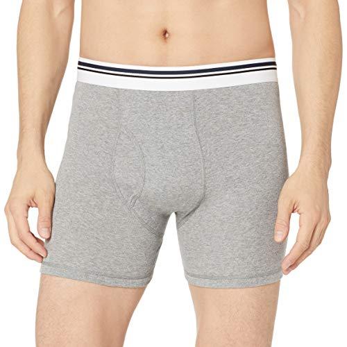 Amazon Essentials 5-Pack Tag-Free Boxer Briefs Bikini, Noir (Black/Charcoal/Heather Grey), XX-Large