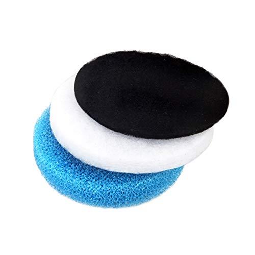 RanDal Blue/White/Black Aquarium Biochemical Carbon Cotton Filter Foam Sponge Pack For Eheim Classic 250 - White