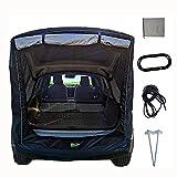 OMKMNOE Tape Tap Tent Tente Universal Tailpotter Tente, Camping Family Car Quick Compte Car Conton Tendeurs Tailgate Canopy pour Voiture pour Le Camping D'été Pratique À Porter,Noir