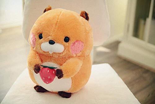 JIAL R 1 uds 30-40 cm de la marmota de Juguete de Felpa Linda de la marmota hámster ratón Relleno Suave muñeca del Regalo for niñas y niños de la Felpa regalo-40Cm_Orange_Strawberry Chongxiang