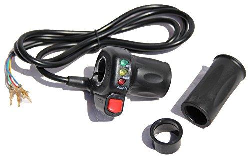Gasgriff, Drehgasgriff 48V mit ECO Knopf Ersatzteil für SXT Elektro Scooter