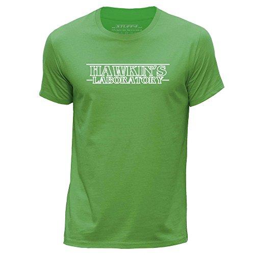 Stuff4 Heren T-Shirt/Vreemde dingen/Hawkin's Lab/Ronde hals Casual Korte mouw 100% Organisch Katoen