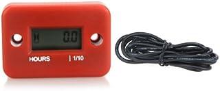 Sangmei Medidor de horas digital LCD para motor a gasolina ATV Mower Snowmobile 0 1/ 99999Hrs vermelho CV#