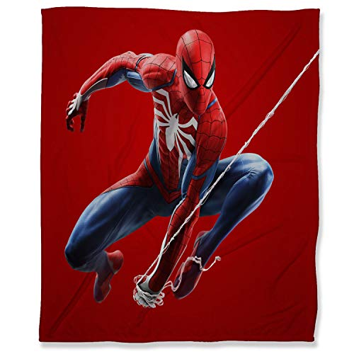 ARYAGO - Manta de franela de terciopelo (180 x 230 cm), diseño de Spiderman