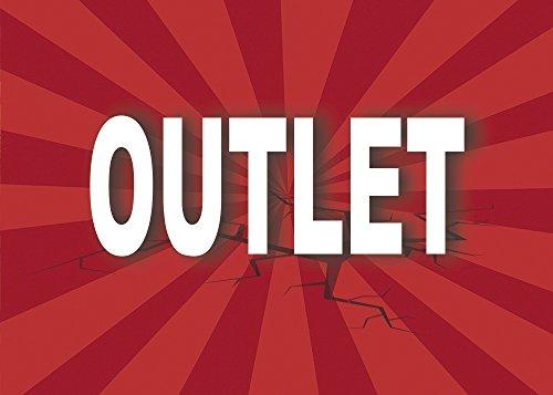 Cartel Outlet | Varias Medidas 70 cm x 50 cm | Cartel publicitario Outlet | Cartel Oferta Outlet | Cartel Oportunidad Outlet