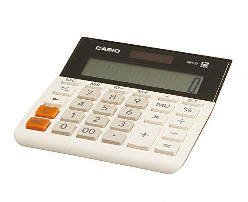 Casio MH-12-WE-S-EH-Calculadora de escritorio, Batería/Solar