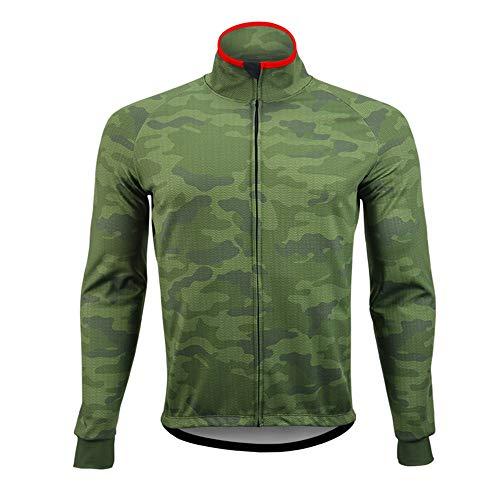 Maillot de Ciclismo para Hombre Camuflaje Ciclismo chaqueta a prueba de viento...