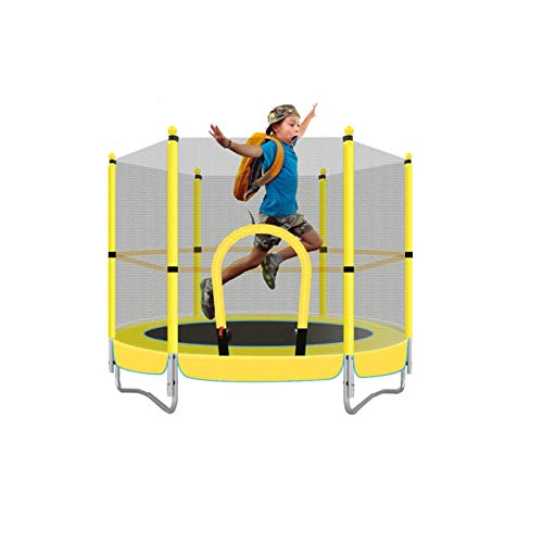 Ironwood Banana Trampoline for Kids, 5 FT/51inch Colorful Trampoline with Safety Net, Indoor Outdoor Trampoline for for Home Exercise Backyard Games