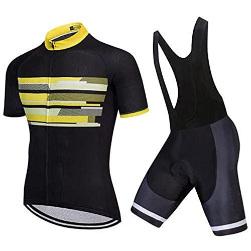 HXTSWGS Traje Ciclismo Hombre Maillot Ciclismo,Ropa de Ciclismo de Verano Ropa de Bicicleta de montaña Ropa de Bicicleta Ropa de Bicicleta MTB-A01_XXL