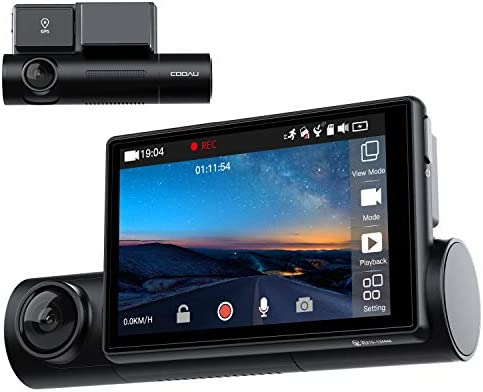 Uber Dual 1080P FHD Built in GPS Wi Fi Dash Cam Front and Inside Car Camera Recorder with Infrared product image
