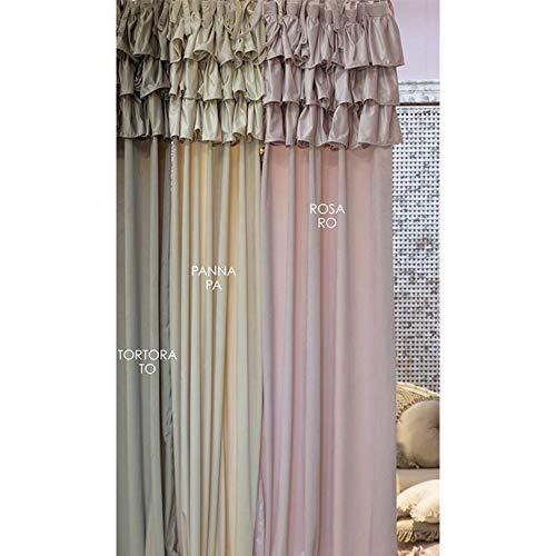 Blanc Mariclò Tenda con Gale in Velluto Colore Wild Orchid cm 150x290 Colore Tortora