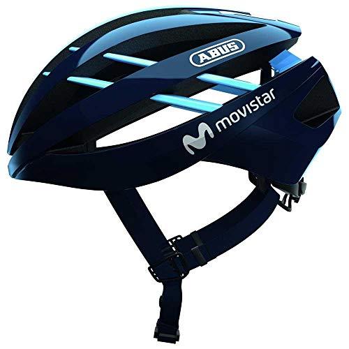 ABUS Aventor Rennradhelm - Sehr gut belüfteter Fahrradhelm für professionellen Radsport für Damen und Herren - 80966 - Movistar Team Edition, Größe S