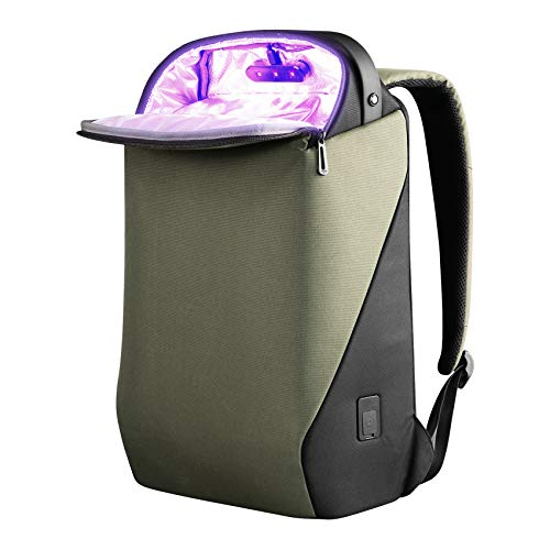 Bwpows UV Sterilizer Backpack, UV Light Sanitizer Bag, UV Disinfection Backpack, UVC Travel Backpack for Laptop, Bottles, Pacifier, Toys, UV Phone Sanitizer Backpack