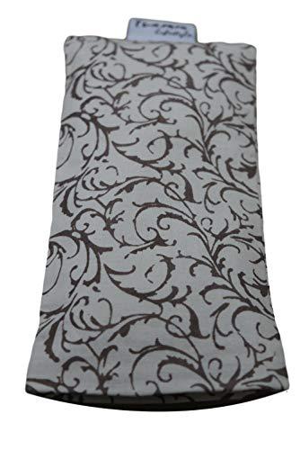 Tvamm-Lifestyle Augenkissen mit Leinsamen/Lavendel Füllung - 100% Baumwolle Stoff, 23 x 11 cm/in wunderschönen Farben erhältlich (Natural)
