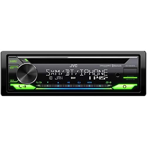JVC KD-TD91BTS Bluetooth Car Stereo Receiver with USB Port – 2-Line LCD Display, AM FM Radio – CD and MP3 Player - Amazon Alexa Enabled – Single DIN - 13-Band EQ (Black)